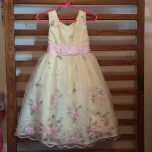 Girls Yellow Floral Dress by Jona Michelle 4t